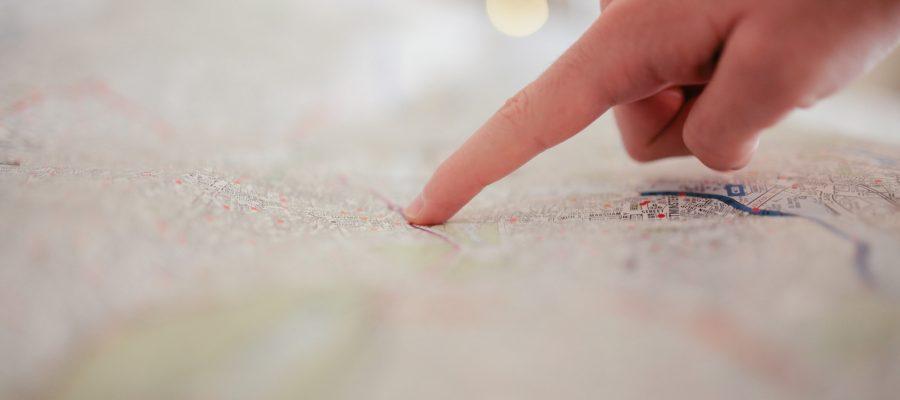 Blick auf einen Stadtplan