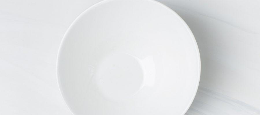 Blick auf einen Teller