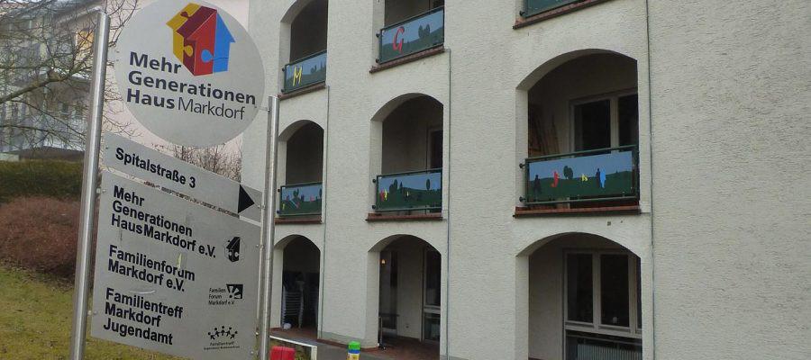 Blick auf das Mehrgenerationenhaus Markdorf