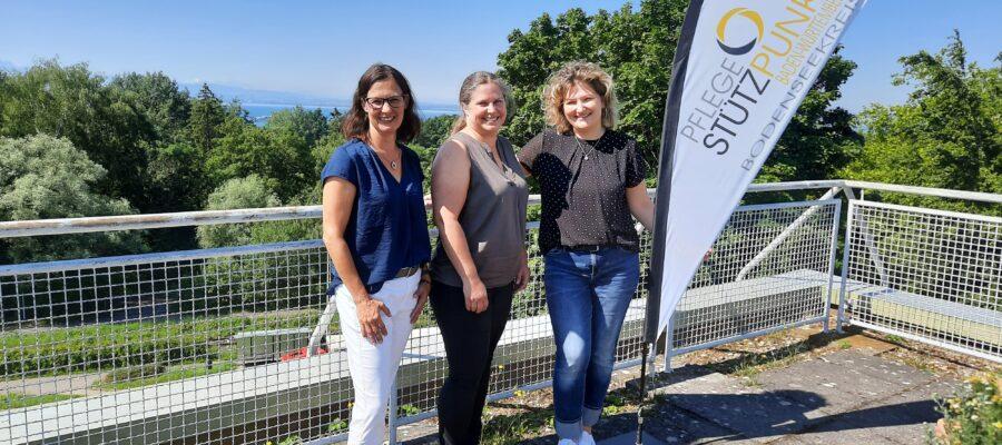 Blick auf das Team vom Pflegestützpunkt Bodenseekreis